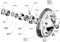 FRONTBRAKEDRUM & BEARINGS