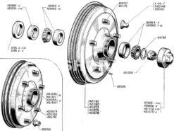 REARBRAKEDRUM & BEARINGS