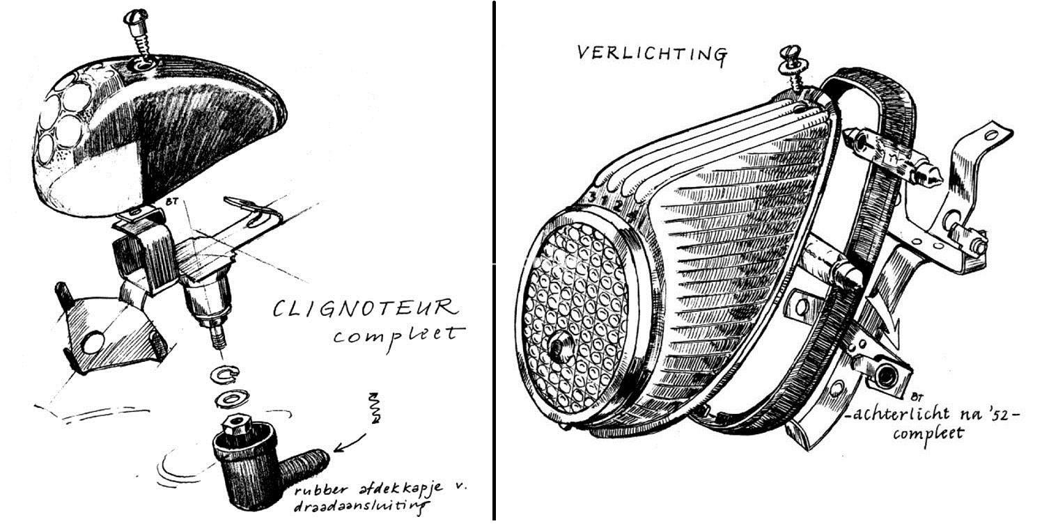 VERLICHTING: CLIGNOTEURS, PARK & ACHTERLICHT